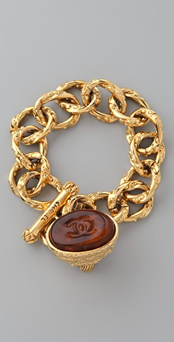 WGACA Vintage Vintage Chanel '93 Gripoix Charm Bracelet