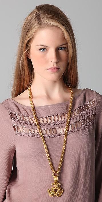 WGACA Vintage Vintage Chanel CC Triangle Necklace