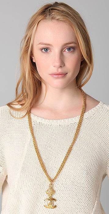 WGACA Vintage Vintage Chanel CC Double Chain Necklace