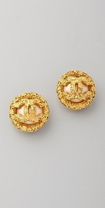 Vintage Chanel Pearl Byzantine Earrings