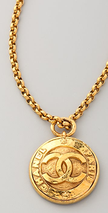 WGACA Vintage Vintage Chanel CC Paris Pendant Necklace