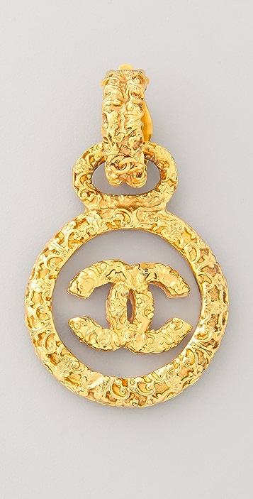 WGACA Vintage Vintage Chanel Byzantine Circle Earrings
