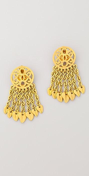 WGACA Vintage Vintage Chanel CC Chain Drop Earrings