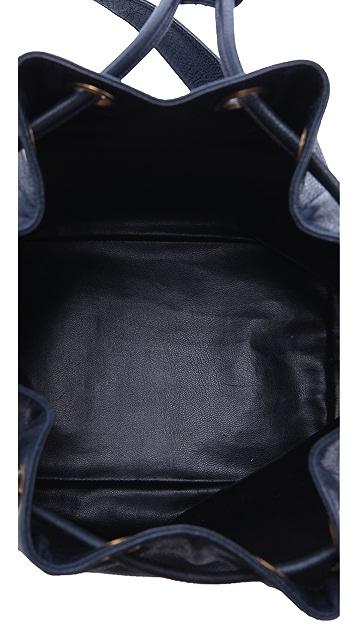 WGACA Vintage Vintage Chanel Caviar Drawstring Bag
