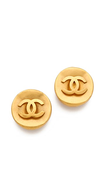 WGACA Vintage Vintage Chanel CC Circles Earrings