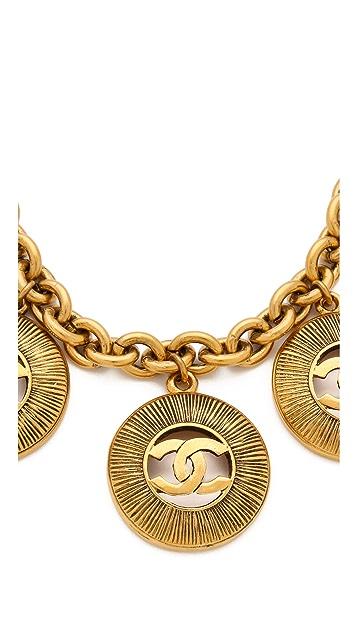 WGACA Vintage Vintage Chanel Sunburst Charm Necklace