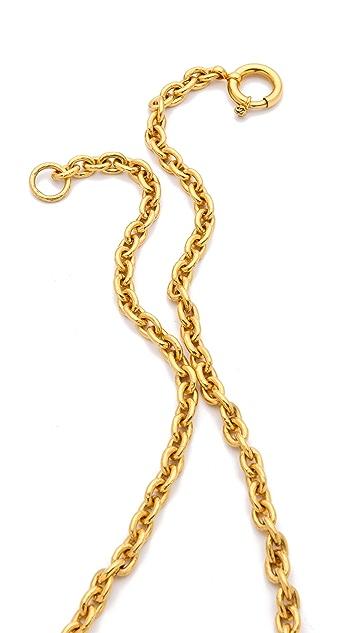 WGACA Vintage Vintage Chanel Triple CC Necklace
