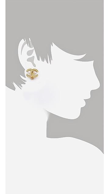 WGACA Vintage Vintage Chanel Crystal Earrings