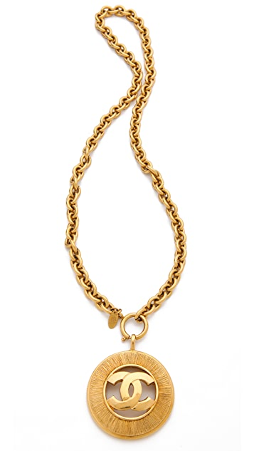 WGACA Vintage Vintage Chanel CC Burst Necklace