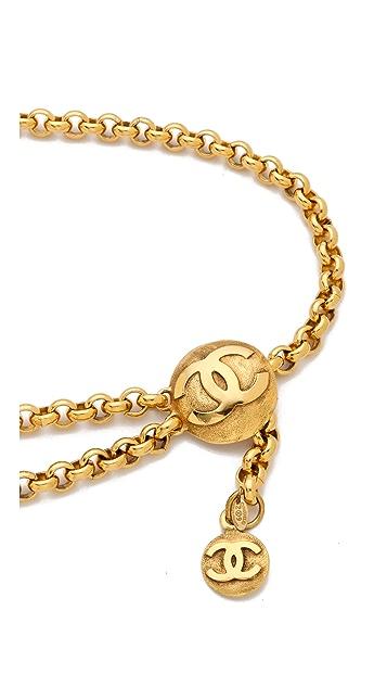 WGACA Vintage Vintage Chanel CC Coins Belt