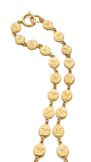 WGACA Vintage Vintage Chanel Coins Necklace