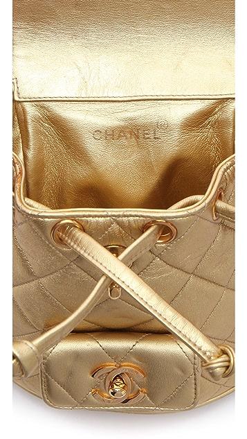 WGACA Vintage Vintage Chanel Metallic Backpack
