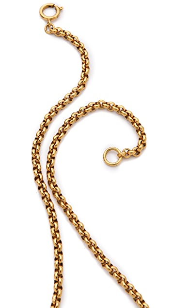 WGACA Vintage Vintage Chanel Open Heart CC Necklace