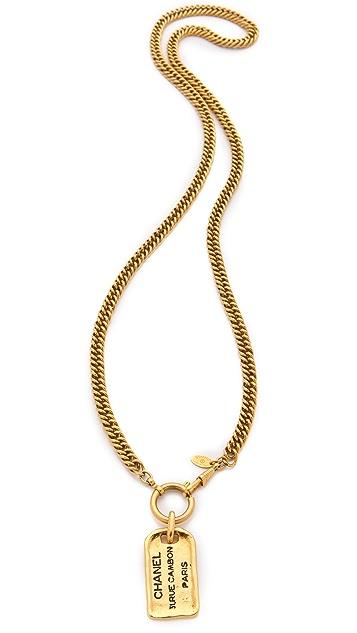WGACA Vintage Vintage Chanel Plaque Necklace