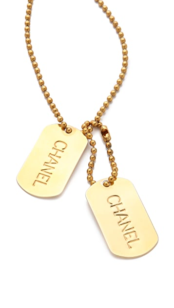 WGACA Vintage Vintage Chanel Dog Tag Necklace