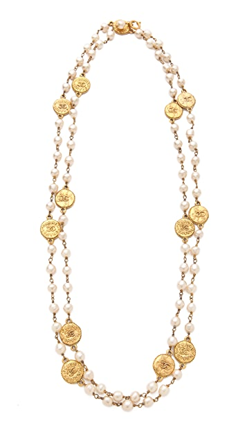 WGACA Vintage Vintage Chanel Coin Necklace