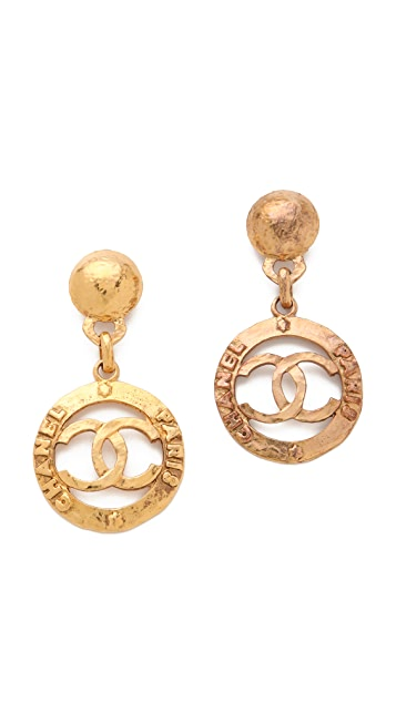 WGACA Vintage Vintage Chanel CC Paris Drop Earrings