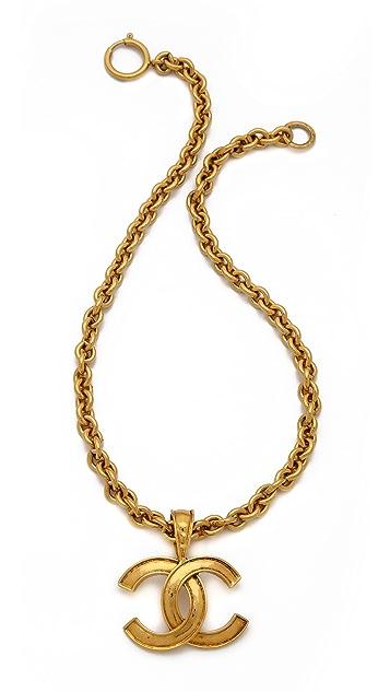 Wgaca vintage vintage chanel cc pendant necklace shopbop wgaca vintage vintage chanel cc pendant necklace aloadofball Images