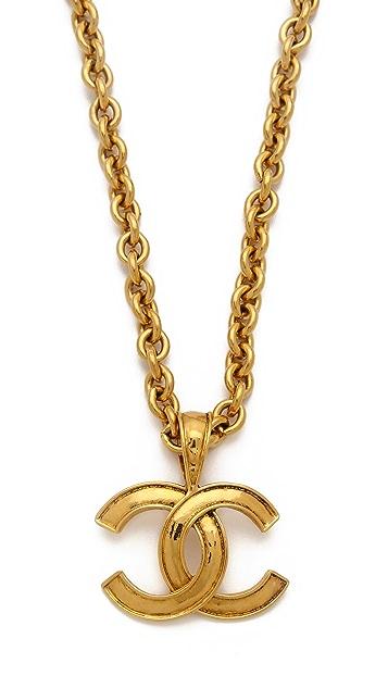 WGACA Vintage Vintage Chanel CC Pendant Necklace