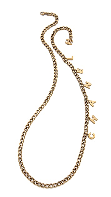 WGACA Vintage Vintage Chanel Drop Letter Necklace