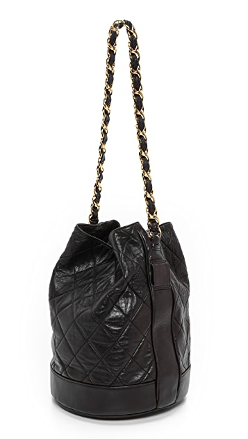 What Goes Around Comes Around Chanel Quilted Bucket Bag