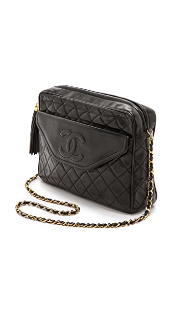 What Goes Around Comes Around Chanel Quilted Front Pocket Tassel Bag