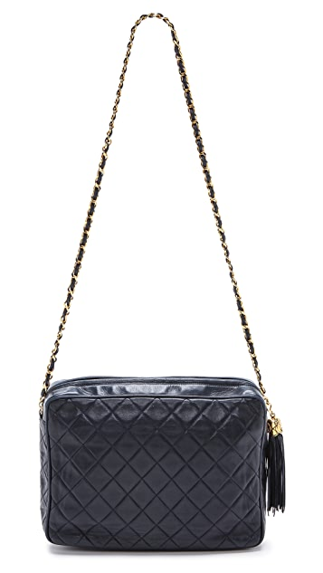 What Goes Around Comes Around Chanel Navy Tassel Bag