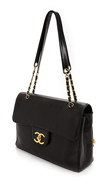 What Goes Around Comes Around Chanel Caviar Jumbo CC Bag