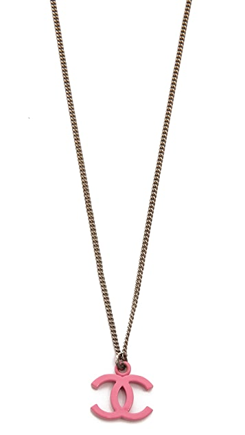 What Goes Around Comes Around Vintage Chanel CC Necklace