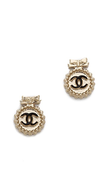 What Goes Around Comes Around Vintage Chanel Tiny Bow CC Earring