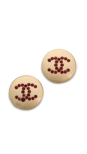 What Goes Around Comes Around Vintage Chanel Tone Earrings