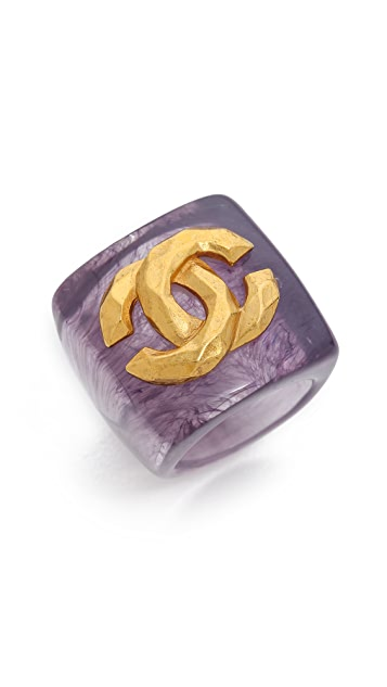 What Goes Around Comes Around Vintage Chanel CC Ring