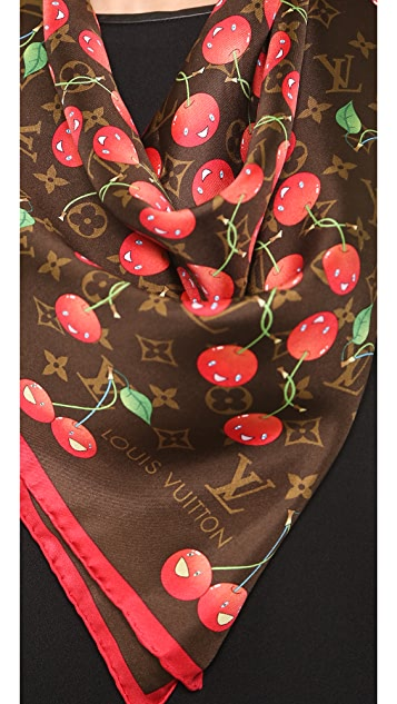 What Goes Around Comes Around Vintage Louis Vuitton Murakami Cherry Print Scarf