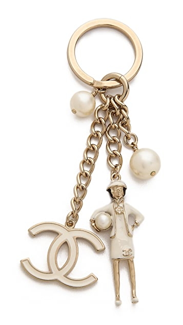 b1c10b6b24a6 What Goes Around Comes Around Vintage Chanel Coco Key Ring | SHOPBOP