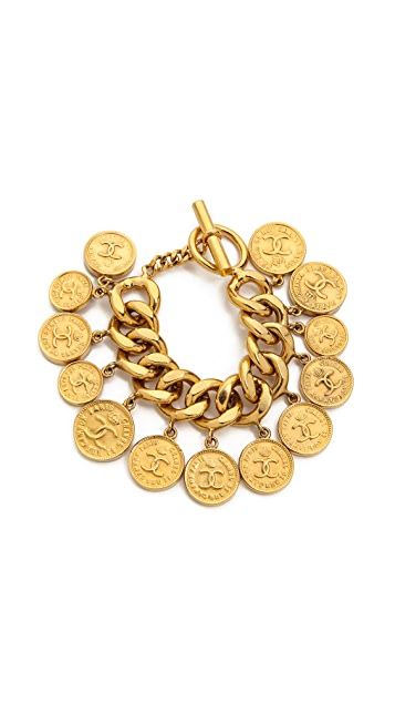 What Goes Around Comes Around Vintage Chanel Coin Charm Bracelet