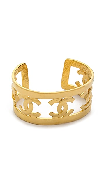 What Goes Around Comes Around Vintage Chanel Cutout Cuff Bracelet