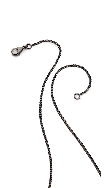 What Goes Around Comes Around Vintage Chanel Brushed Metal CC Necklace