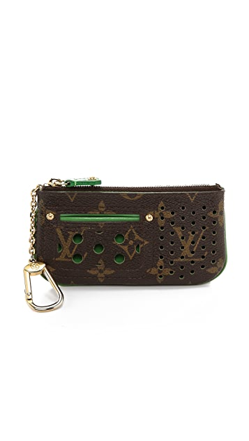 What Goes Around Comes Around Vintage Louis Vuitton Perforatted Wallet with Key Ring