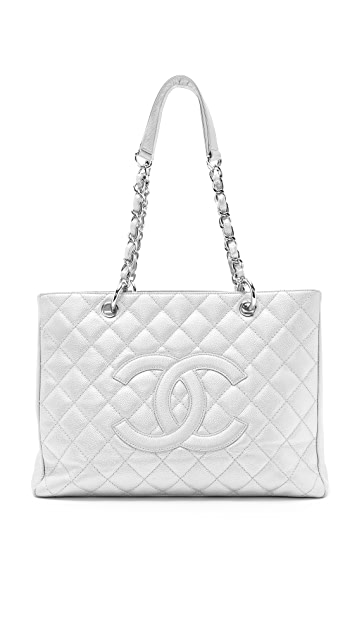 What Goes Around Comes Around Vintage Chanel Metallic Caviar Bag