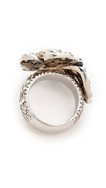 What Goes Around Comes Around Vintage Chanel Rhinestone Ring