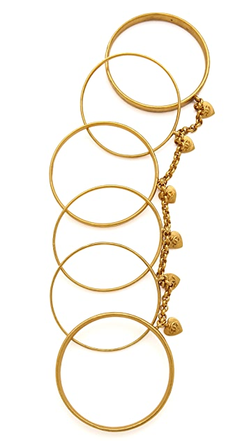 What Goes Around Comes Around Vintage Chanel Heart Bangle Set