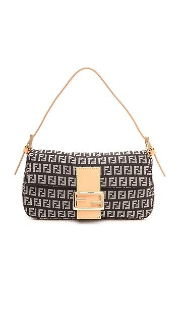 latest design best value picked up What Goes Around Comes Around Fendi Black Zucca Print Bag | SHOPBOP