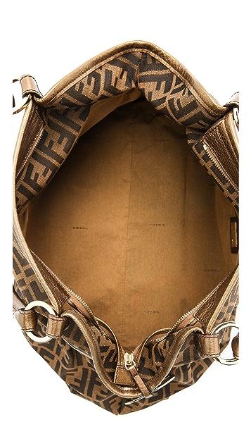 What Goes Around Comes Around Fendi Gold Handle Zucca Tote