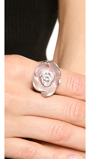 What Goes Around Comes Around Vintage Chanel Camellia Ring