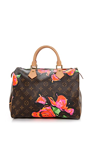 b493385201e3 ... What Goes Around Comes Around Louis Vuitton Roses Speedy Satchel ...