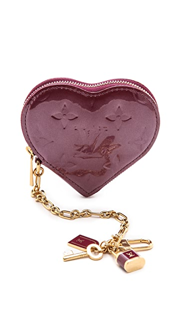 What Goes Around Comes Around Louis Vuitton Vernis Heart Coin Purse