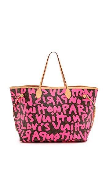 8784341f56a4 What Goes Around Comes Around. Louis Vuitton Graffiti Neverfull GM Bag