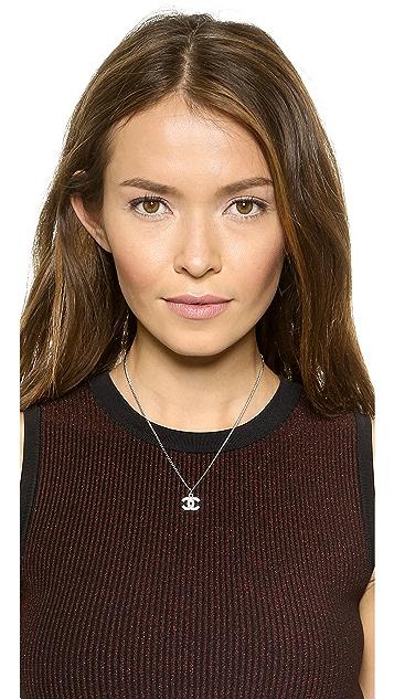 What Goes Around Comes Around Vintage Chanel CC Rhinestone Necklace