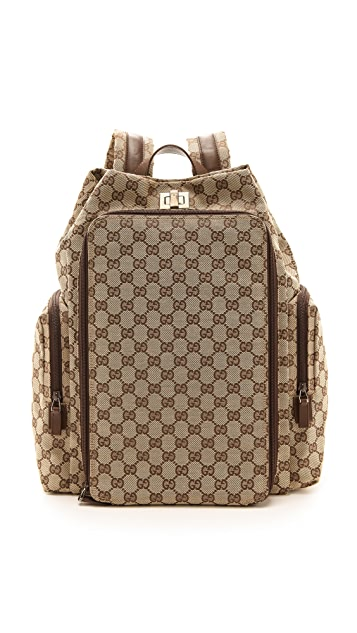 176da1b6e88f What Goes Around Comes Around Gucci Canvas Backpack   Baby Bag