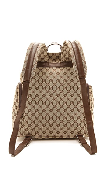 1bf28e884384 ... What Goes Around Comes Around Gucci Canvas Backpack   Baby Bag ...